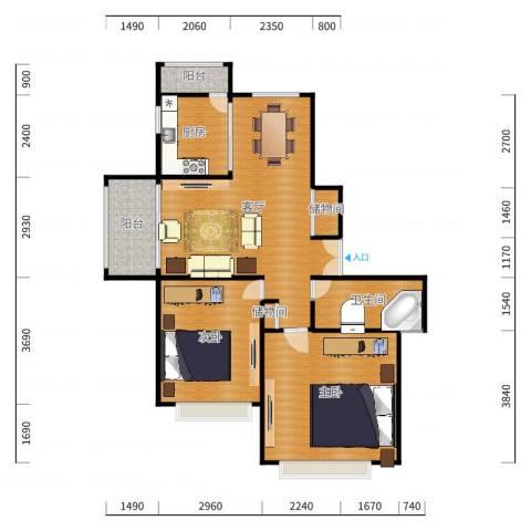 上海拉迷家具样板间户型图