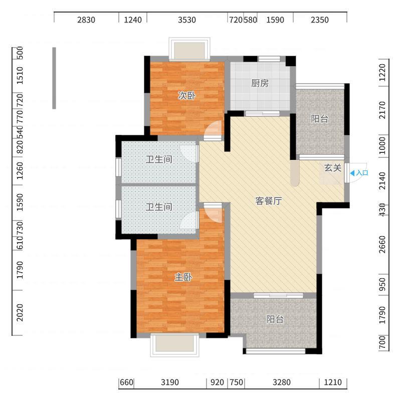 紫廷名苑-副本户型图