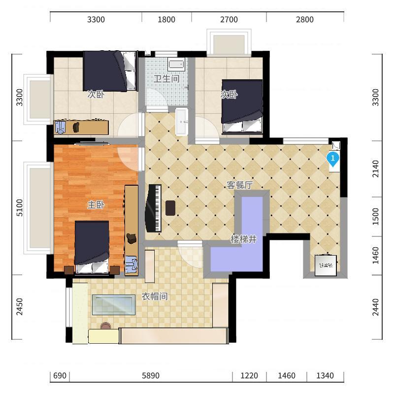 二楼(ok)户型图