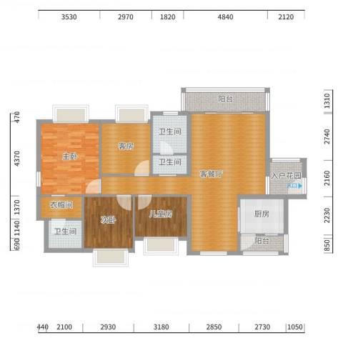 丰华和家园-6#1单元林总户型图