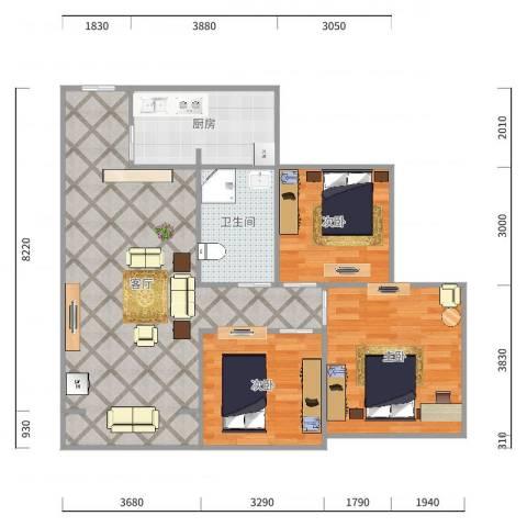 东城丽景49栋2单元2-3(紫照)