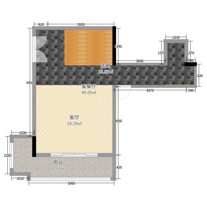 11平米客餐廳的平面布置圖