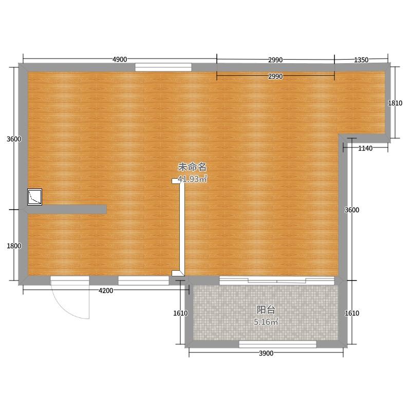 平米客餐廳的平面布置圖