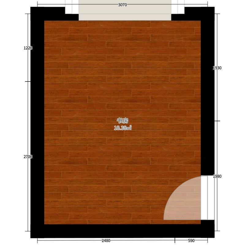 平米书房的平面布置图