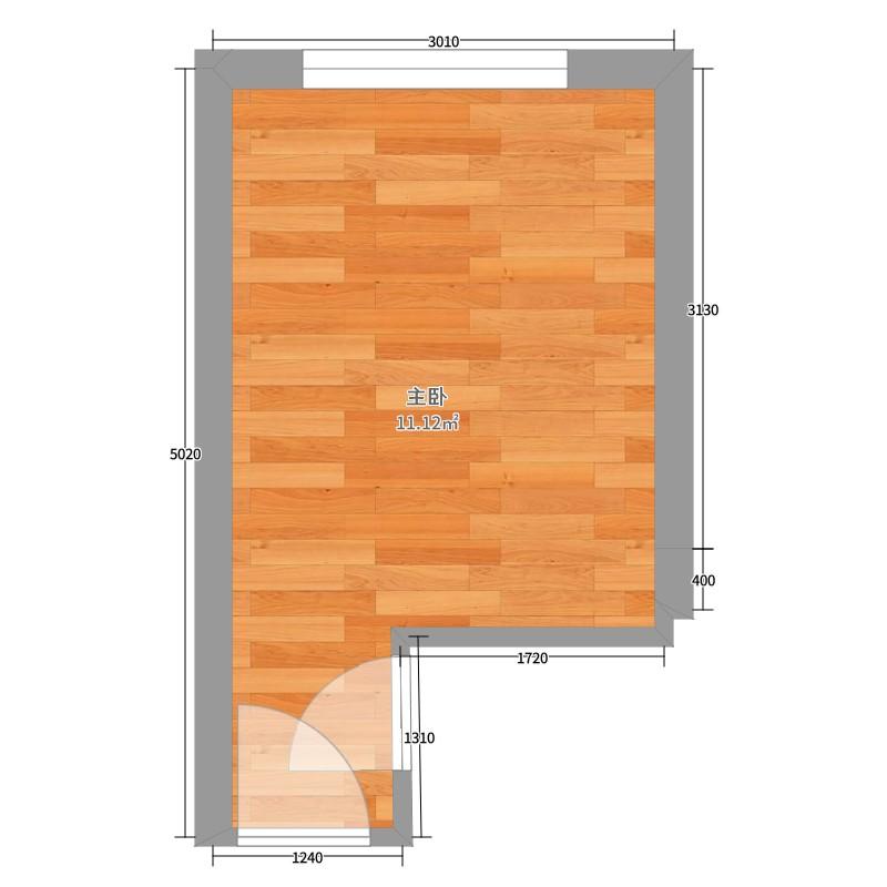 11平米主卧的平面布置图