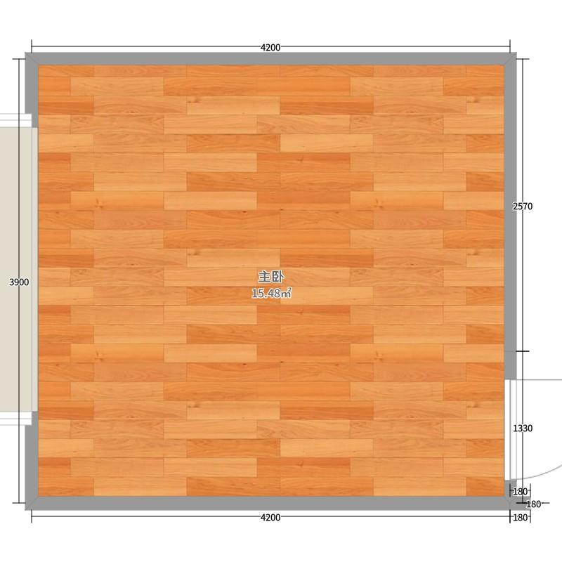 11平米俯视图的平面布置图