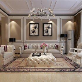 欧式欧式风格客厅三居设计案例