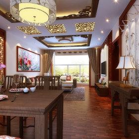 中式餐厅单身公寓吊顶案例展示