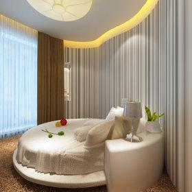 现代卧室一居室吊顶窗帘装修效果展示