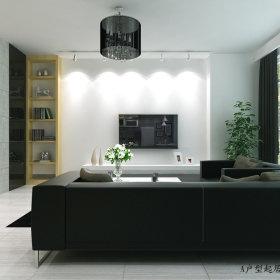现代客厅跃层设计图