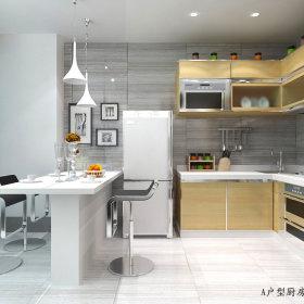现代厨房跃层装修案例