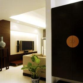 中式现代玄关鞋柜玄关柜设计案例