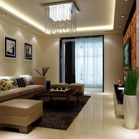 现代客厅一居室吊顶设计案例
