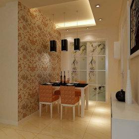 现代餐厅一居室吊顶设计方案