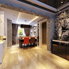 后现代现代现代风格后现代风格餐厅吊顶装修案例