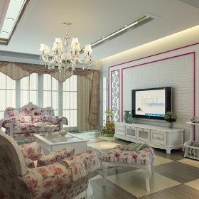 韩式韩式风格客厅装修案例