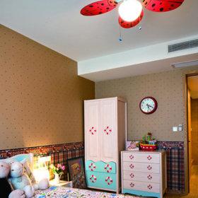美式混搭儿童房复式楼装修效果展示