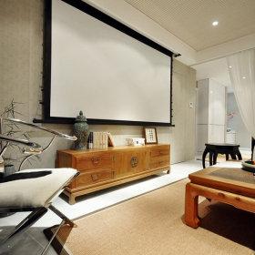中式客厅投影效果图