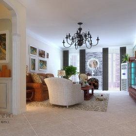 美式乡村风格客厅设计方案