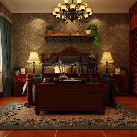 美式乡村风格卧室装修图