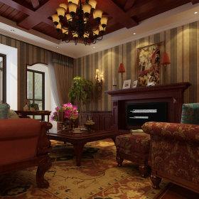 美式乡村风格客厅设计案例展示