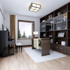 中式中式风格书房交换空间案例展示