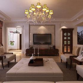 美式美式风格客厅背景墙电视背景墙图片