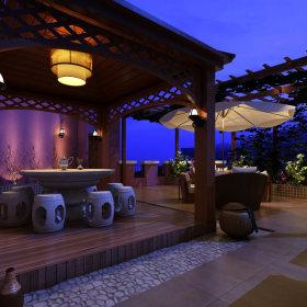 中式中式风格阳台吊顶设计方案