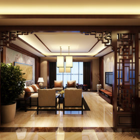 中式中式风格新中式客厅吊顶装修图