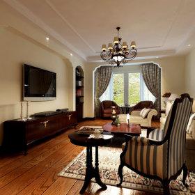 美式美式风格客厅吊顶设计图