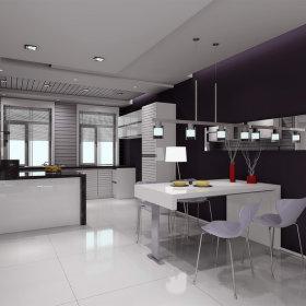 现代现代风格餐厅三居设计案例