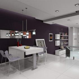 现代现代风格餐厅三居设计方案