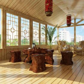 中式中式风格休闲区效果图