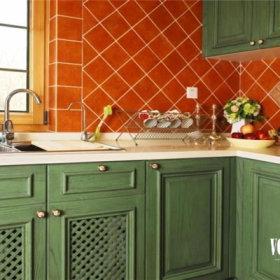 美式乡村风格厨房装修案例