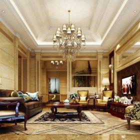 欧式简欧简欧风格客厅别墅吊顶电视背景墙案例展示