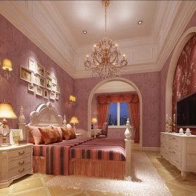 地中海地中海风格卧室别墅吊顶电视背景墙设计案例展示