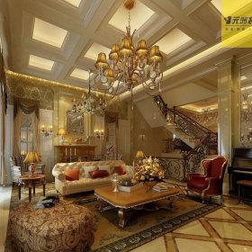 美式美式风格客厅吊顶案例展示