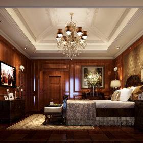 欧式简欧简欧风格卧室别墅吊顶电视背景墙装修图
