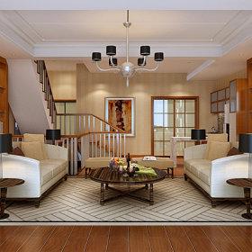 中式中式风格客厅别墅设计图