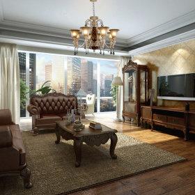 客厅沙发酒柜电视柜电视背景墙设计案例