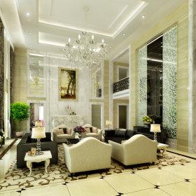 现代现代风格奢华客厅案例展示