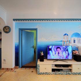 地中海客厅电视背景墙设计图