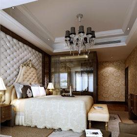 新古典卧室吊顶电视柜台灯设计图