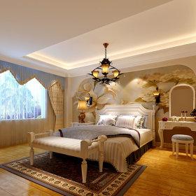 美式卧室梳妆台效果图