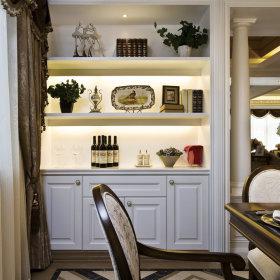欧式餐厅酒柜装修案例
