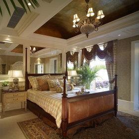 美式卧室吊顶装修效果展示