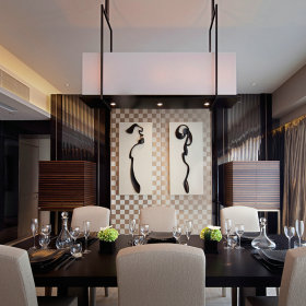 新古典餐厅吊顶设计案例展示