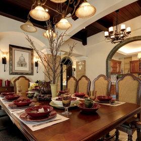 美式餐厅吊顶设计方案