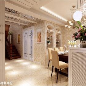 欧式简欧简欧风格餐厅酒柜装修效果展示