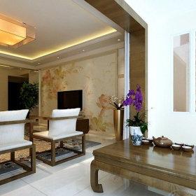 现代现代风格客厅三居设计图